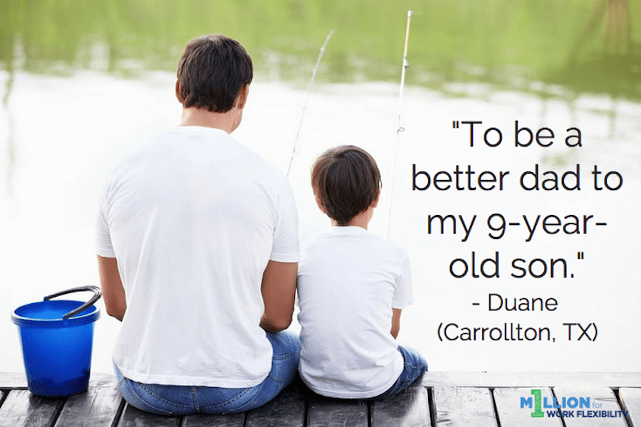 """To be a better dad to my 9-year-old son."""
