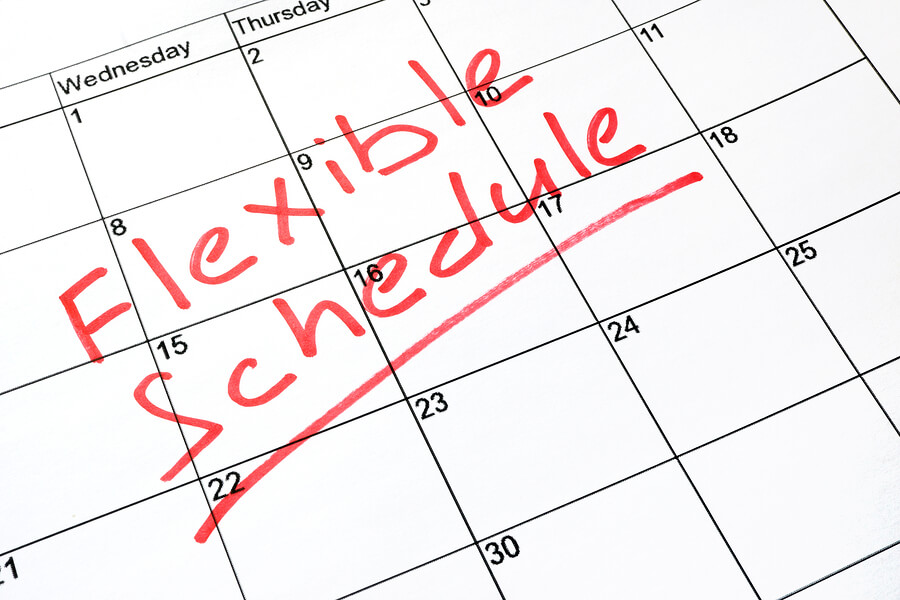 Calendar for working a flexible schedule and how to make breastfeeding easier