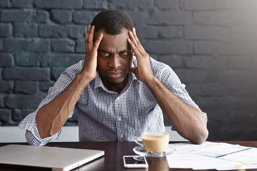 Man feeling stressed